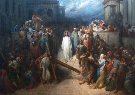 Dore, Gustave: Christ Leaving the Courtroom. Fine Art Print/Poster. Sizes: A4/A3/A2/A1 (002628)